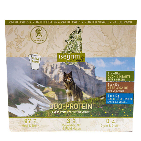 Isegrim Adult Multipack - duoprotein - 6 x 410 g