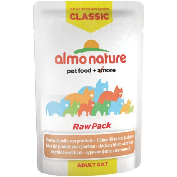 Almo Nature HFC Raw Pack - piščančji file in šunka 55 g