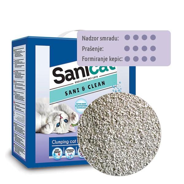 Sanicat posip Sani & Clean O2 z vonjem sivke