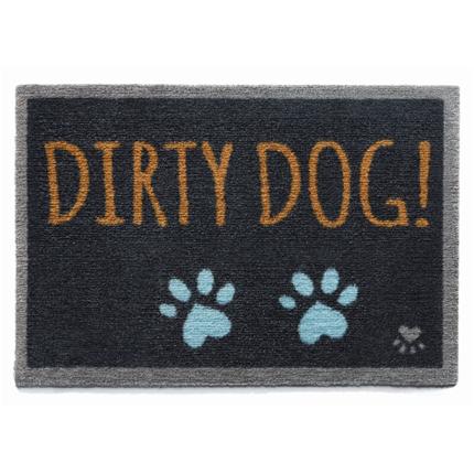 Preproga Dirty Dog, temno siva - 50 x 75 cm