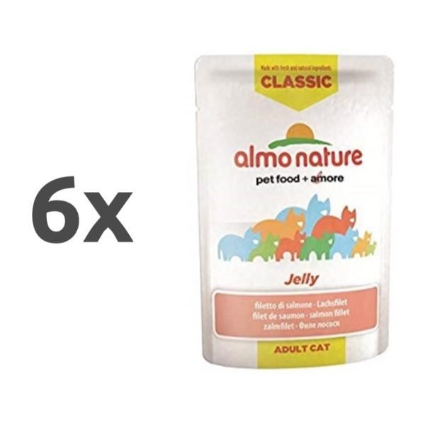Almo Nature HFC Jelly - file lososa 6 x 55 g
