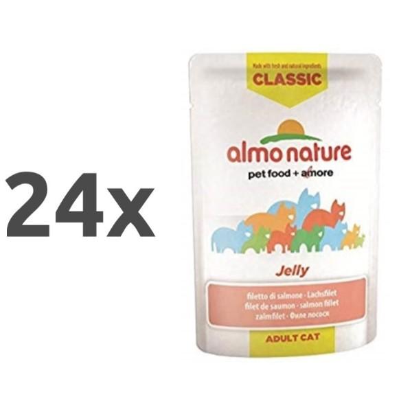Almo Nature HFC Jelly - file lososa 24 x 55 g