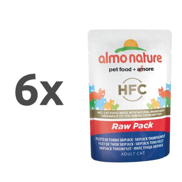 Almo Nature HFC Raw Pack - file Skip Jack tuna 6 x 55 g