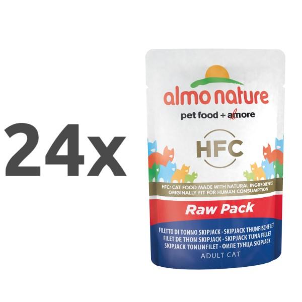 Almo Nature HFC Raw Pack - file Skip Jack tuna 24 x 55 g