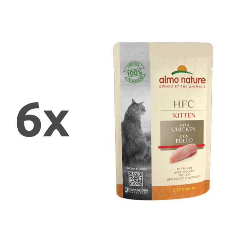 Almo Nature HFC Cuisine Kitten - piščanec 6 x 55 g