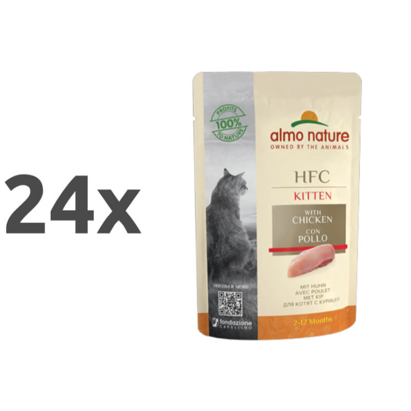 Almo Nature HFC Cuisine Kitten - piščanec 24 x 55 g