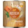 Rustican konzerva Adult - piščanec in losos 800g