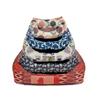 Leopet oglato ležišče Rodi, mix barve 70 x 85 cm