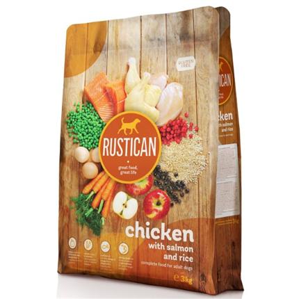 Rustican Gluten Free - piščanec, losos in riž