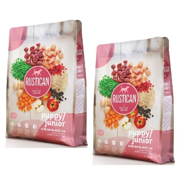 Rustican Gluten Free Puppy & Junior - ovca in riž 2 x 12 kg