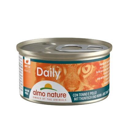 Almo Nature Daily Mousse konzerva - tuna in piščanec - 85 g