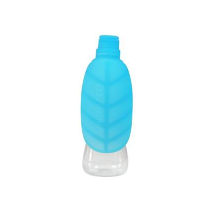 United Pets potovalna plastenka Leaf, modra - 500 ml