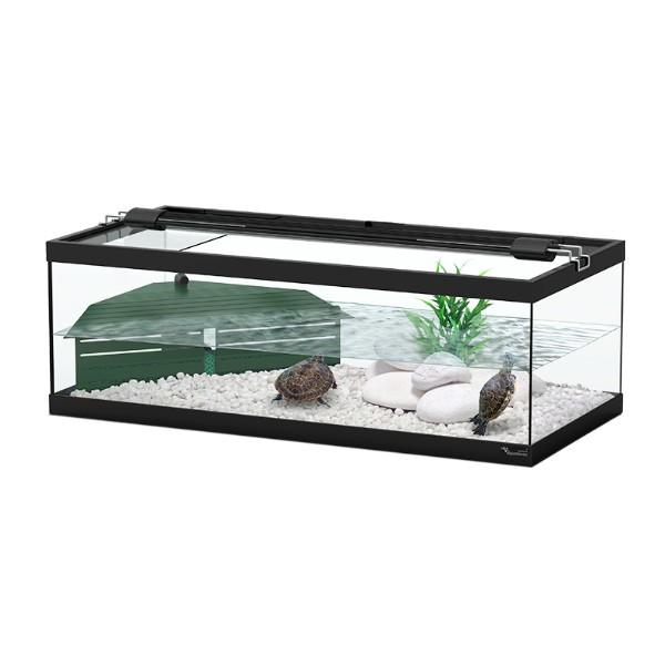 Aquatlantis akvaterarij Tortum za vodne želve, črn - 75 x 36 x 25 cm