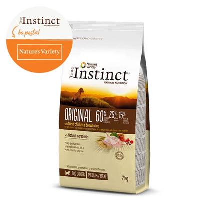 True Instinct Original Junior Medium/Maxi - piščanec in rjavi riž