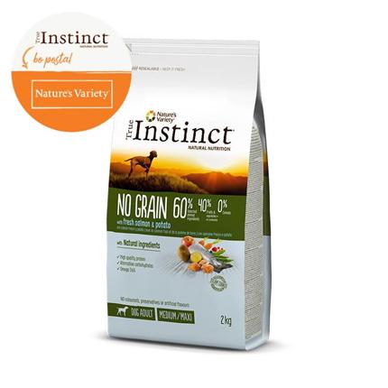 True Instinct No Grain Adult Medium/Maxi - losos in krompir