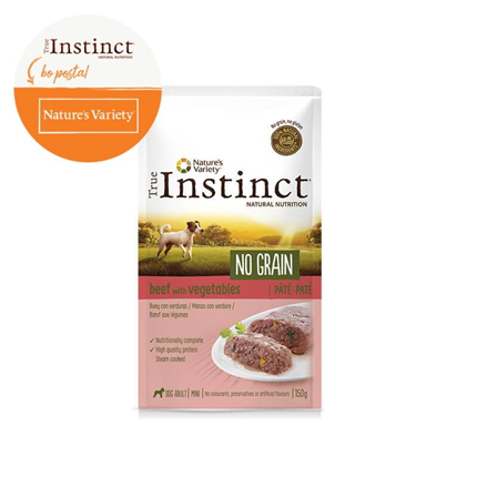 True Instinct No Grain Adult Mini - govedina in zelenjava - 150 g