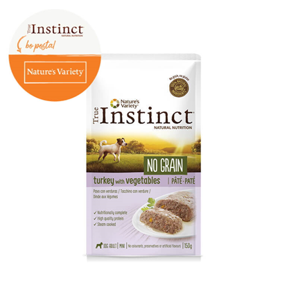 True Instinct No Grain Adult Mini - puran in zelenjava - 150 g