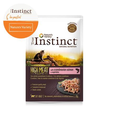 True Instinct High Meat Adult - losos in zelenjava - 70 g