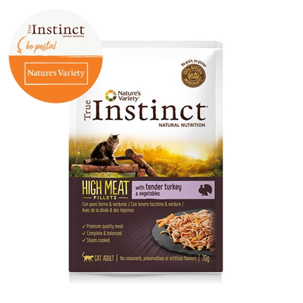True Instinct High Meat Adult - puran in zelenjava - 70 g