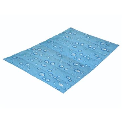 Nobby hladilna blazina modre kapljice/siva M - 90 x 50 cm
