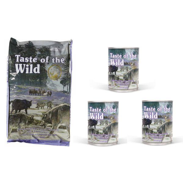 Taste Of The Wild Sierra Mountain – pečena jagnjetina 13kg + 3x390g
