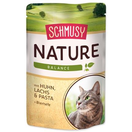 Schmusy Nature - piščanec in losos - 100 g