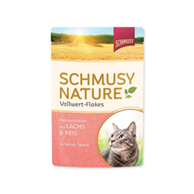 Schmusy Nature - losos in riž - 100 g