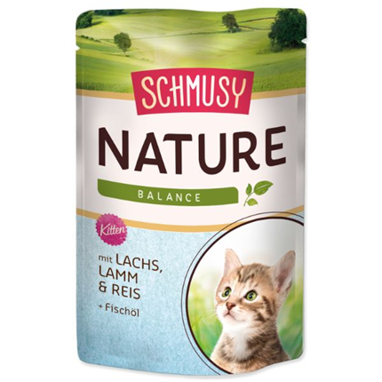 Schmusy Nature Kitten - losos in jagnjetina - 100 g