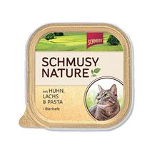 Schmusy Nature alutray - piščanec in losos - 100 g