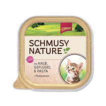 Schmusy Nature Kitten - teletina in perutnina - 100 g