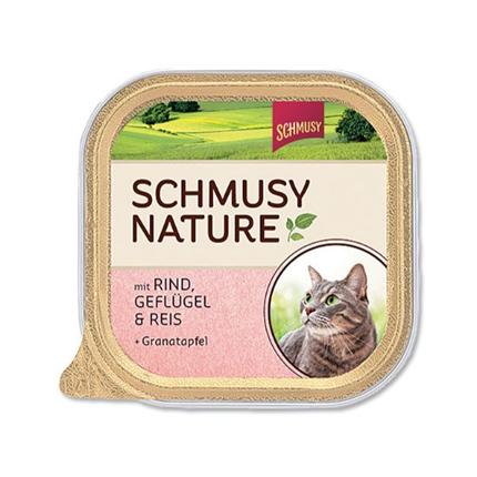 Schmusy Nature alutray - govedina in perutnina - 100 g