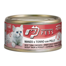 Professional Pets Naturale – govedina, tuna in piščanec – 70 g