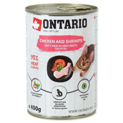 Ontario Kitten - piščanec, rakci, riž in lososovo olje - 400 g