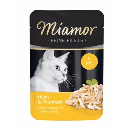 Miamor Feines Filets Jelly - piščanec in tuna - 100 g
