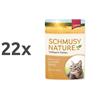 Schmusy Nature - piščanec in riž - 100 g 22 x 100 g