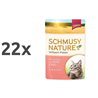 Schmusy Nature - losos in riž - 100 g 22 x 100 g