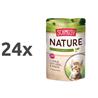 Schmusy Nature Kitten - teletina in perutnina - 100 g 24 x 100 g