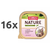 Schmusy Nature alutray - puran in kunec - 100 g 16 x 100 g
