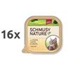 Schmusy Nature alutray - piščanec in losos - 100 g 16 x 100 g