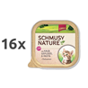Schmusy Nature Kitten - teletina in perutnina - 100 g 16 x 100 g