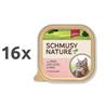 Schmusy Nature alutray - govedina in perutnina - 100 g 16 x 100 g