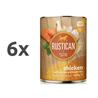 Rustican konzerva Adult - piščanec in losos 6 x 400 g