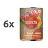 Rustican konzerva Adult - govedina in jagnjetina 6 x 400 g