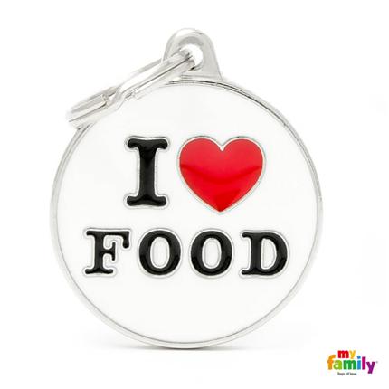 My Family identifikacijski obesek I Love Food - GRAVIRANJE GRATIS!