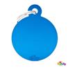My Family identifikacijski obesek aluminij, velik krog - GRAVIRANJE GRATIS! modra