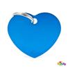My Family identifikacijski obesek aluminij, velik srček - GRAVIRANJE GRATIS! modra