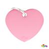 My Family identifikacijski obesek aluminij, velik srček - GRAVIRANJE GRATIS! roza
