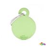 My Family identifikacijski obesek aluminij, mali krog - GRAVIRANJE GRATIS! zelena