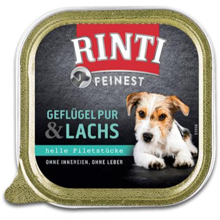 Rinti Feinest alutray - perutnina in losos - 150 g