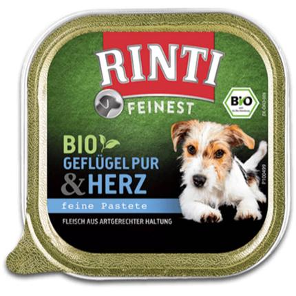 Rinti Bio alutray - piščančji srčki - 150 g